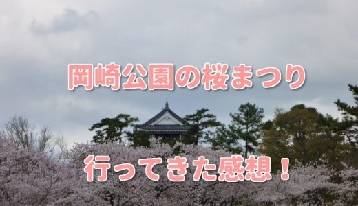 岡崎公園桜まつりに行ってきた感想!屋台情報や船あそび体験談も