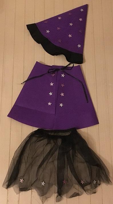 100均のハロウィングッズで手作り魔女衣装