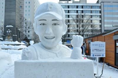さっぽろ雪まつり 雪像 大谷翔平