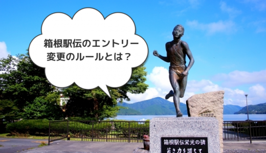 箱根駅伝のエントリー変更のルールとは?メンバー変更も戦略の一つ?